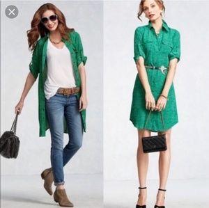 CABI EMERALD SHIRT DRESS